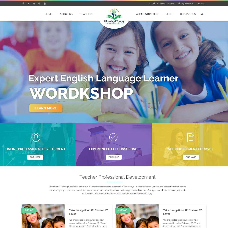 LMS Website for Training for Teachers