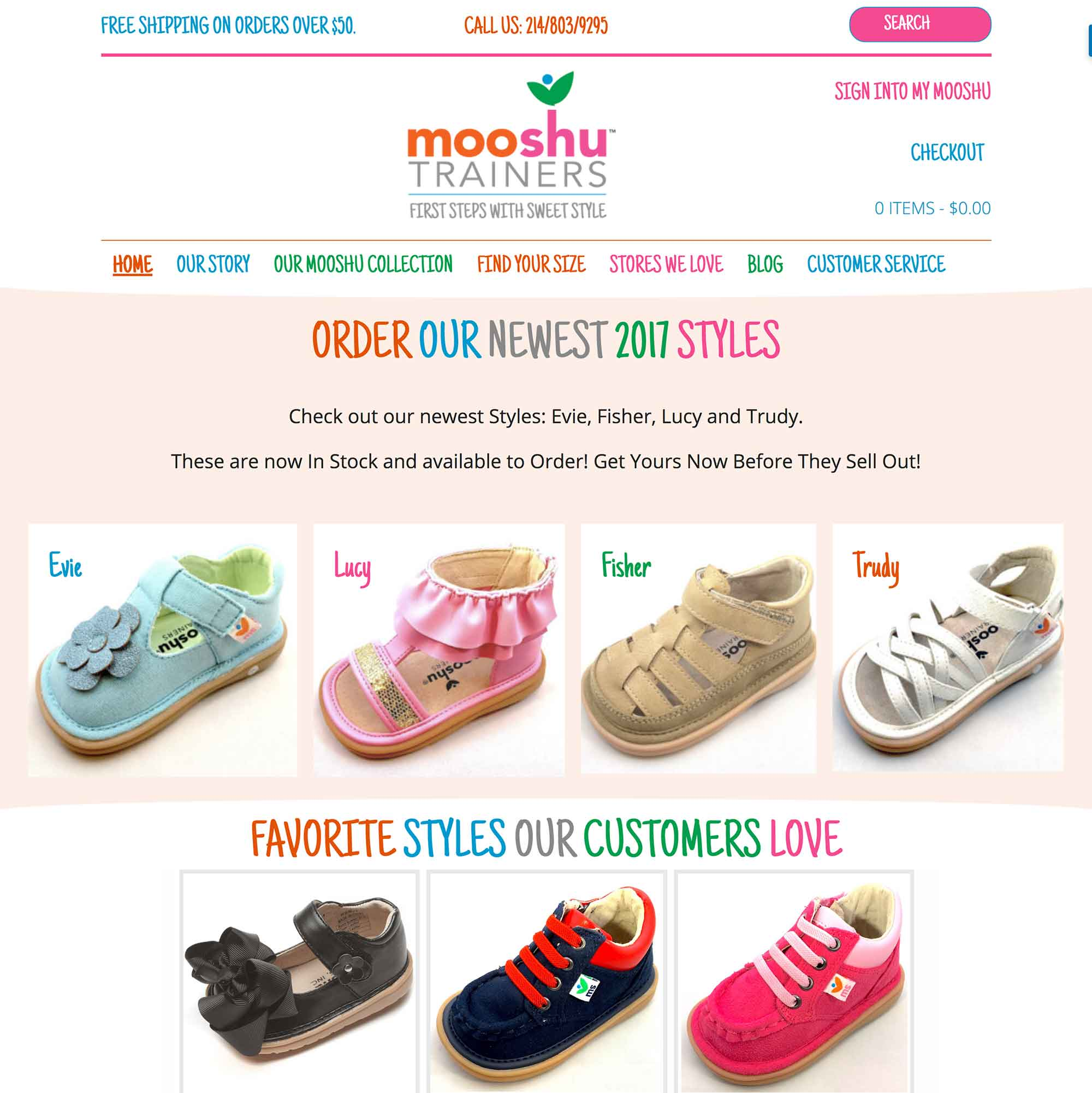 eCommerce Website for Mooshu Trainers