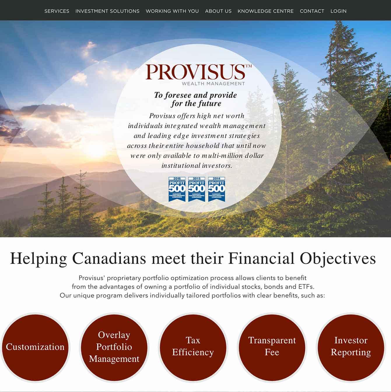 Web Design for Provisus.ca
