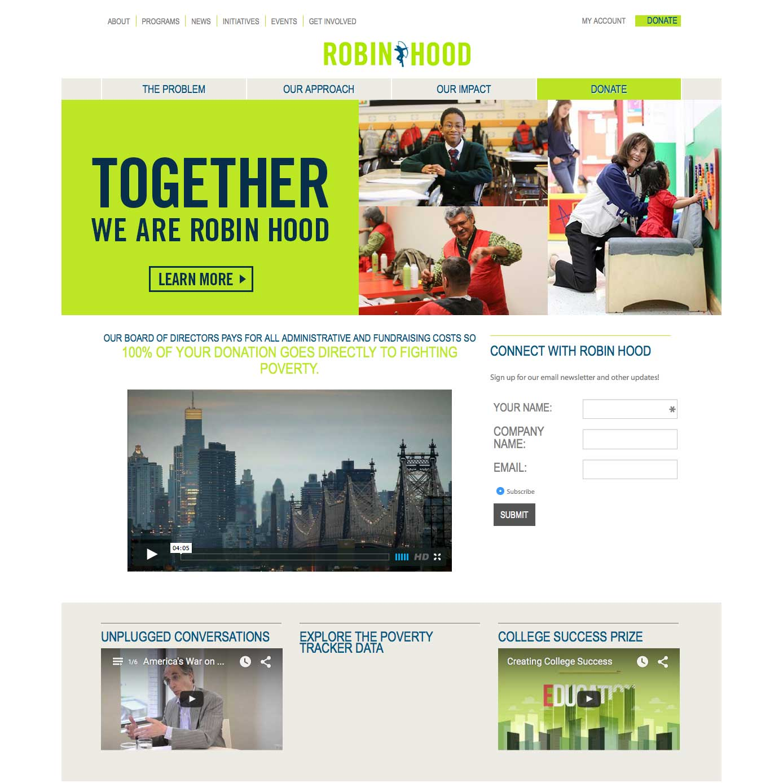 WordPress Website for Robinhood.org