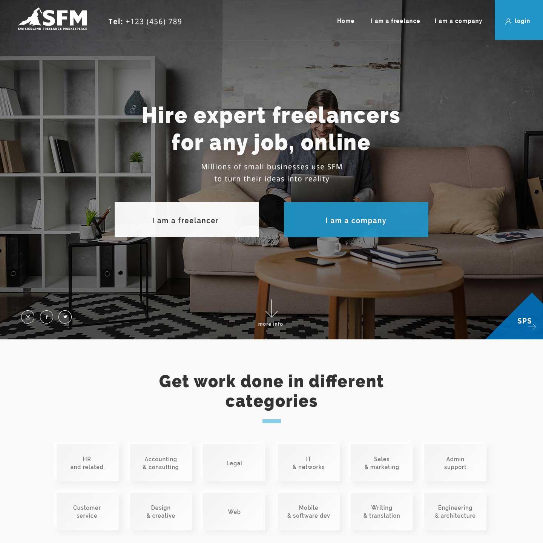 Freelance Website for Swiss Freelance Marketplace-SFM