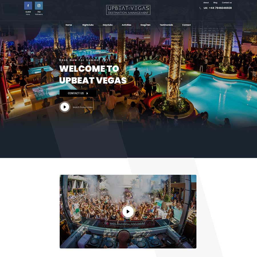 Event Website for UpbeatVegas