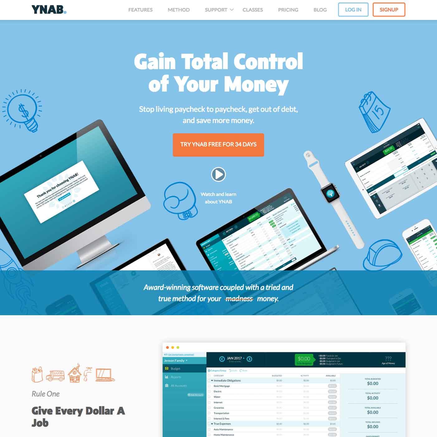 Website for YNAB