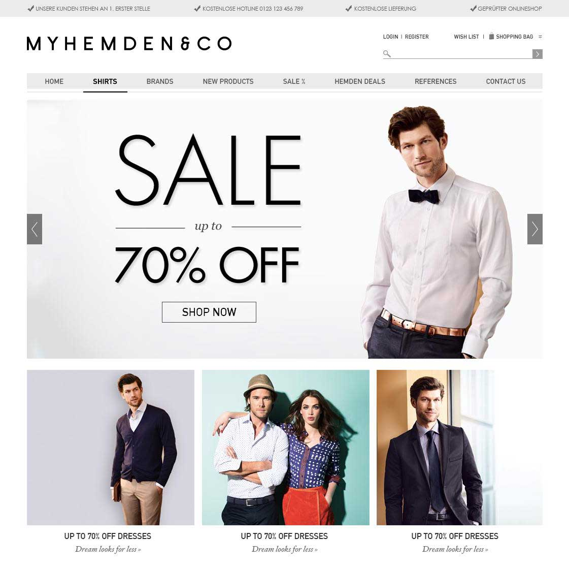 eCommerce Website for My Hemden