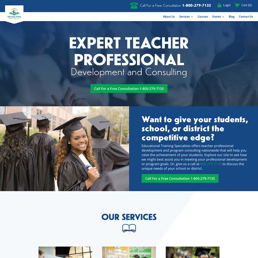 LMS Website for Training for Teachers