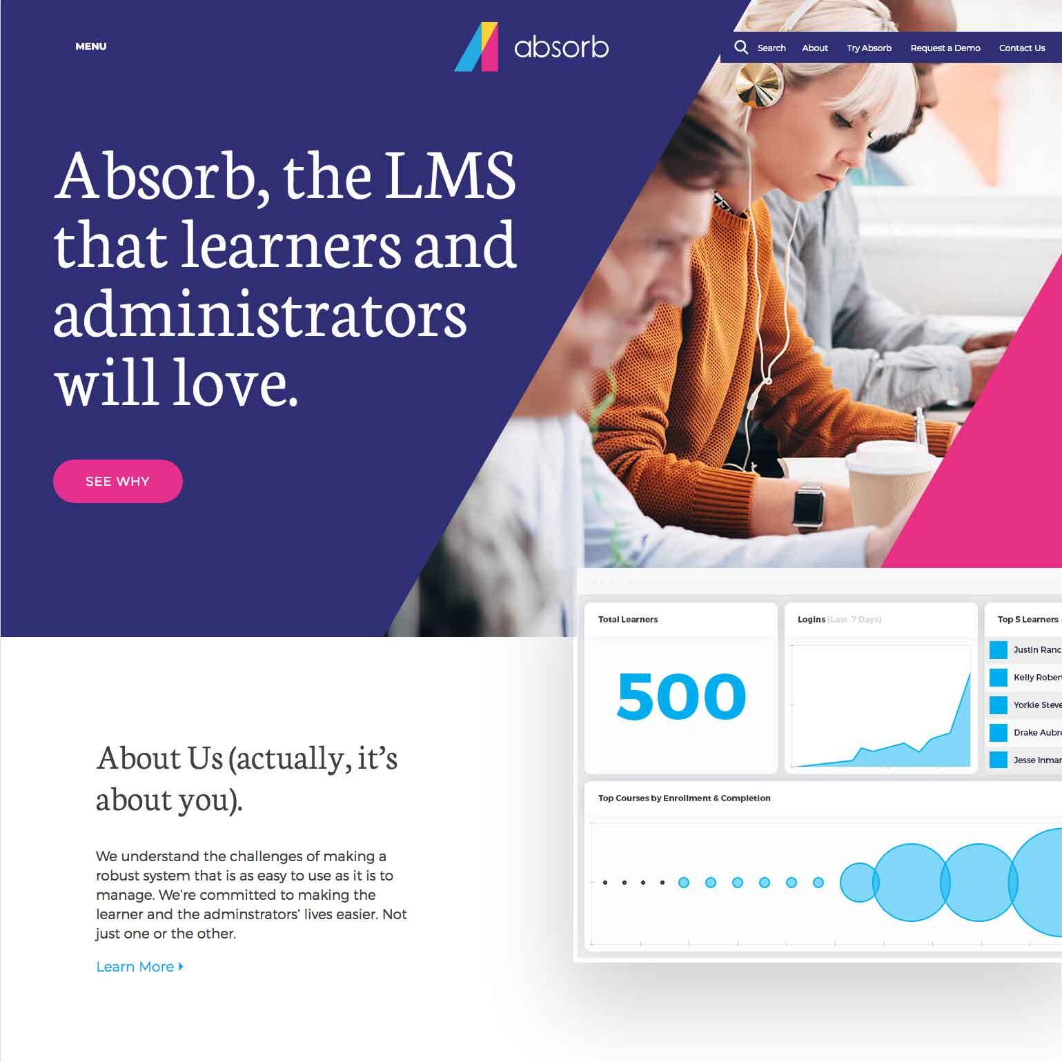 Website for Absorb LMS