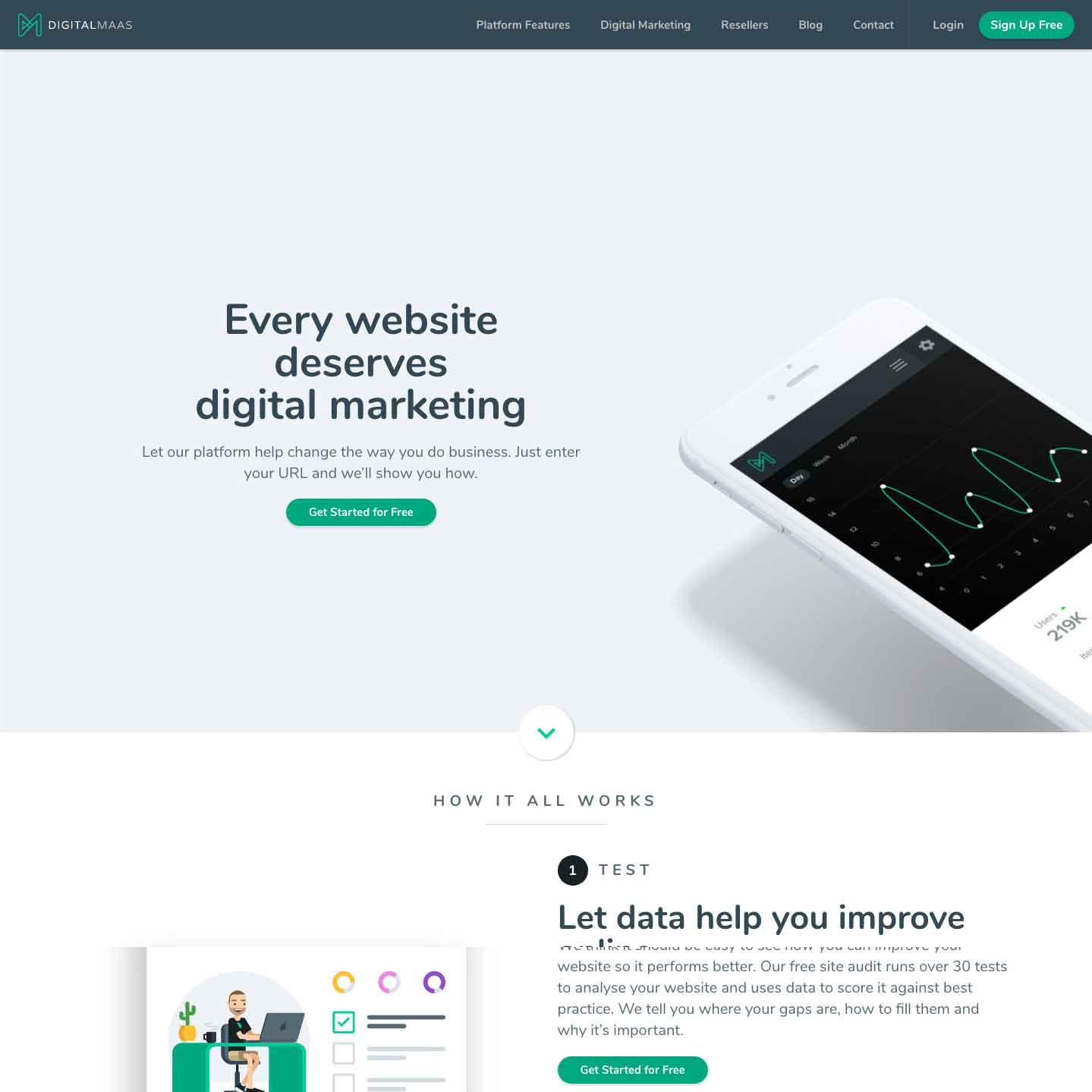 Divi Website for Digital Maas