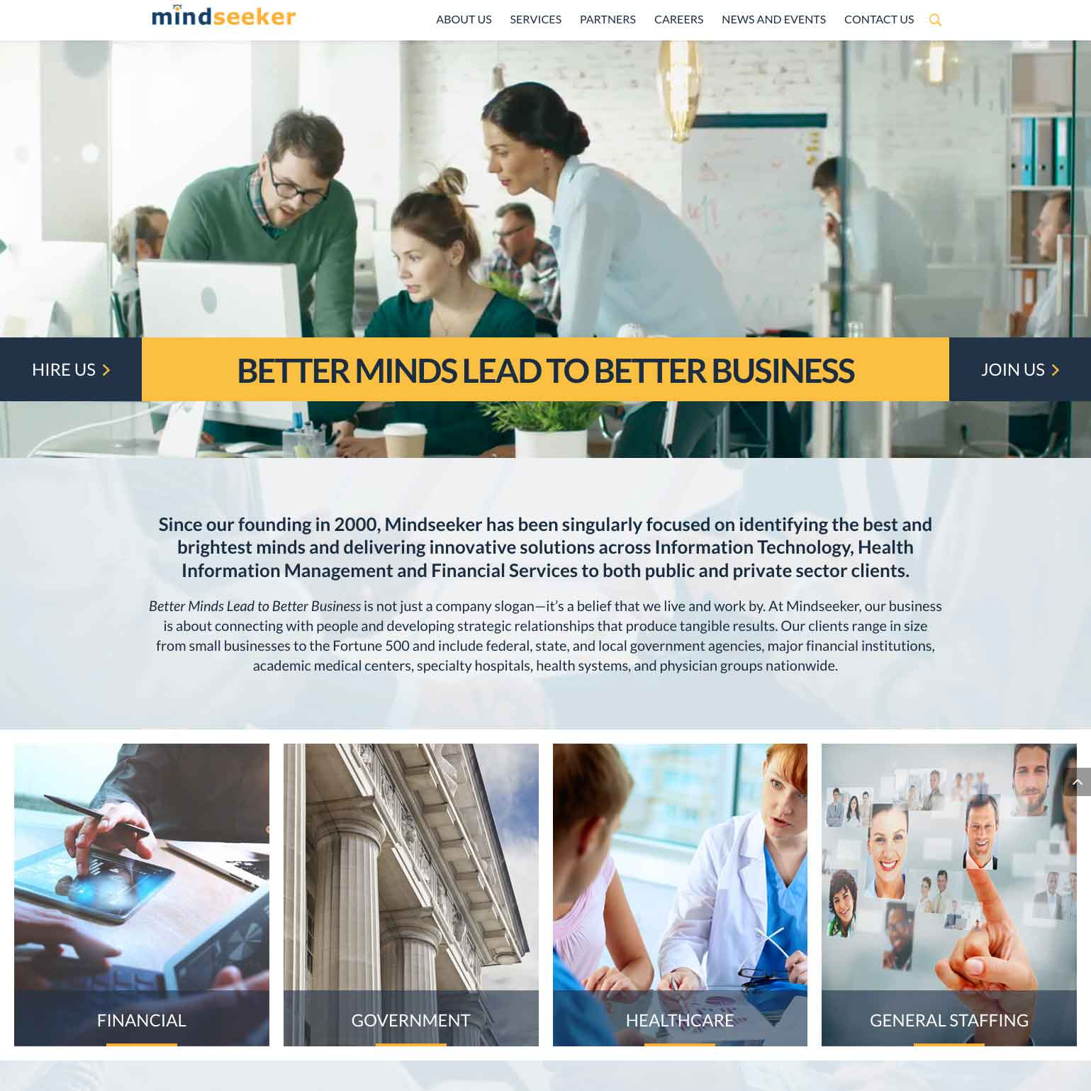 Mind Seeker Website development