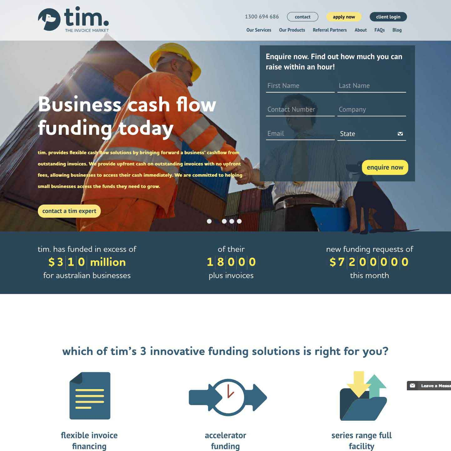WordPress Web Design for The Invoice Market